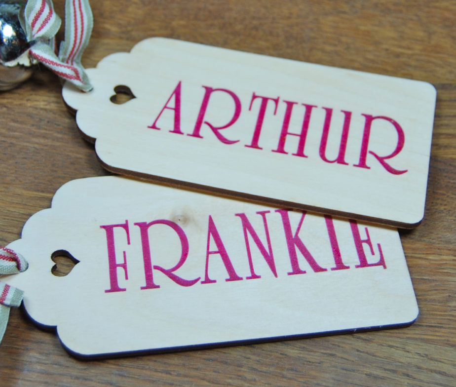 Personalised Baby Gift Tags Uk : Personalised wooden gift tags only ? each