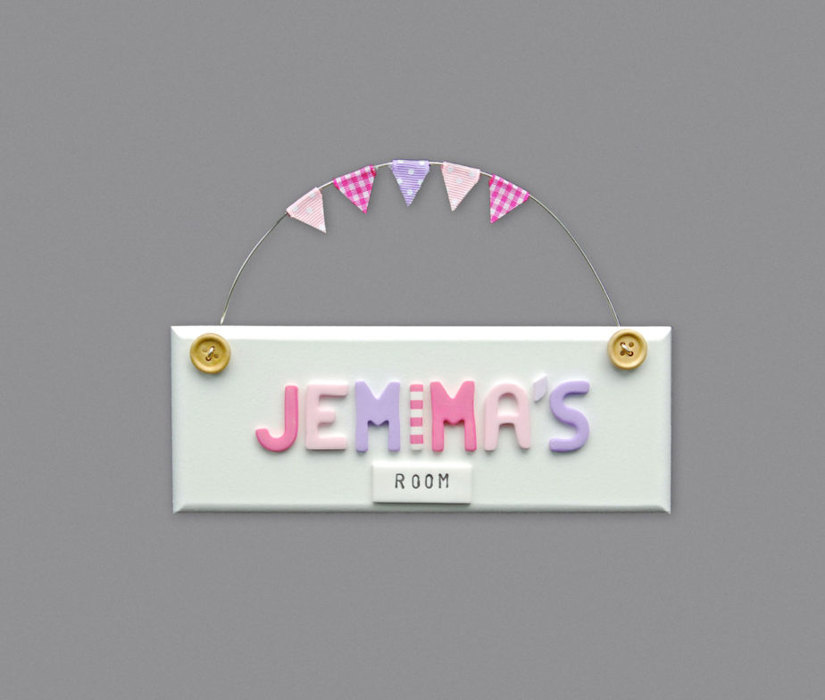 Girls bedroom door sign white for Signs for little girl rooms
